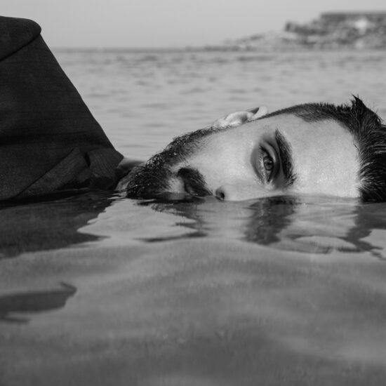water portrait shot